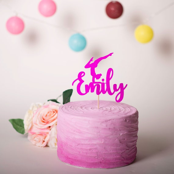 Stupendous Gymnastics Cake Topper Gymnastics Personalised Cake Topper Etsy Personalised Birthday Cards Cominlily Jamesorg