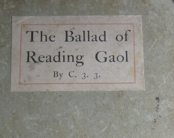 The Ballad of Reading Gaol  by C. 3.3.