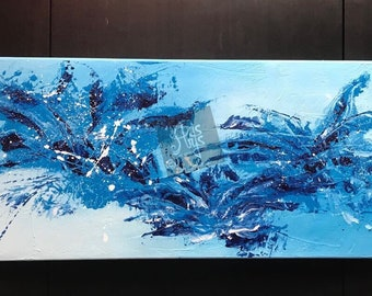 Abstract painting, acrylic on canvas, painting, contemporary art