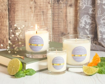 Lime, Basil and Mandarin - soy wax candle