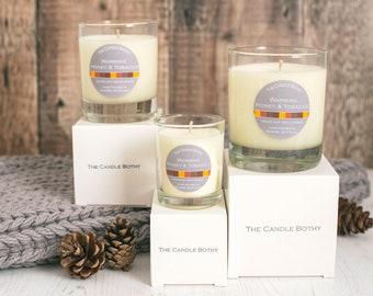 Warming honey & tobacco - soy wax candle