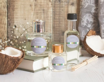 Bamboo and Coconut reed diffuser; reed diffuser 100ml; reed diffuser 50ml; reed diffuser refill;