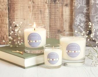 Cedar & Jasmine - soy wax candle