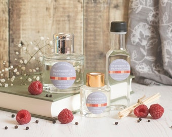 Raspberry & Peppercorn reed diffuser; reed diffuser 100ml; reed diffuser 50ml; reed diffuser refill;