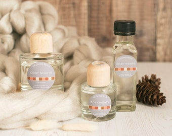 Cosy Nights reed diffuser; reed diffuser 100ml; reed diffuser 50ml; reed diffuser refill;