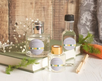Carrot and Fennel reed diffuser; reed diffuser 100ml; reed diffuser 50ml; reed diffuser refill;