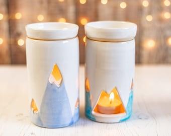handmade wax melt warmer, wax melt burner, oil burner