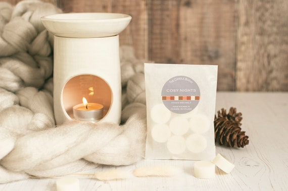 Autumn scents: vegan wax melts; Warming Honey & Tobacco; Cosy Nights; By the Fire