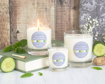 Cucumber, ginger & mint - soy wax candle
