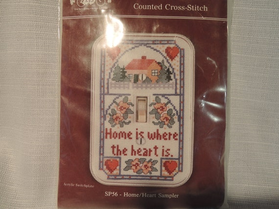 2 Counted Cross Stitch Light Switch Cover Kits Etsy