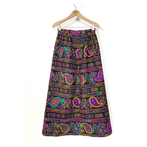 1960s vintage quilted skirt by Alex Colman Califo… - image 3