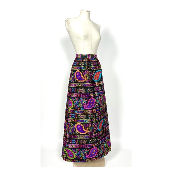 1960s vintage quilted skirt by Alex Colman Califo… - image 7