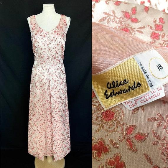 Vintage 1950s/60s Alice Edwards formal evening max
