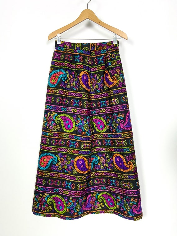1960s vintage quilted skirt by Alex Colman Califo… - image 4