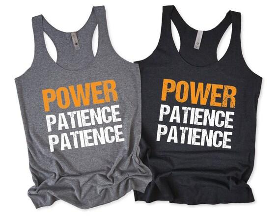 Power Patience Patience Design 2 Fitness Tank Women/'s Racerback Tank