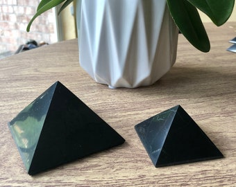 Large Shungite Pyramid. Premium Shungite Pyramid For Home Decor, Protection, Meditation. Polished Shungite Crystal For EMF 5G Protection