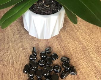 Beautiful Hematite Crystal. Hematite Tumble Chakra Stones For Grounding & Protection. Hematite Healing Crystals for Reiki. Crystal Grids