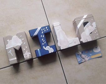 Personalized letters Theme BAO and WAPI NOUKIE S - size 12 cm