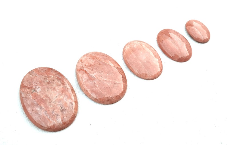 Very Rare Collection 5 Pieces Natural Apple Coral Jasper Gemstone,Oval Shape,Smooth Cabochon,Size 15x21-29x42 MM Approx,Making Jewelry