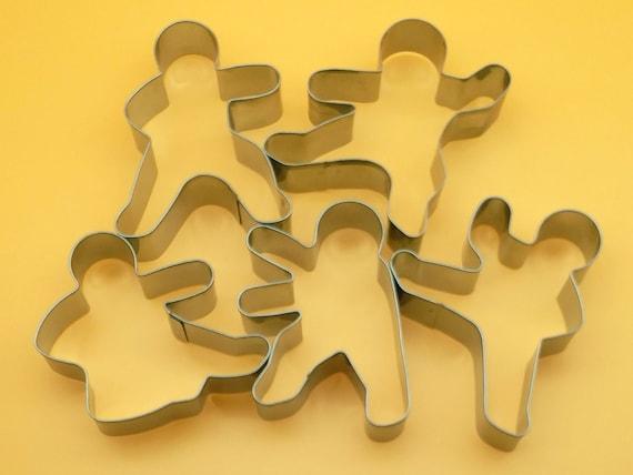 4 pcs Kung Fu Fighting NInja karate fondant biscuit baking cookie cutter set