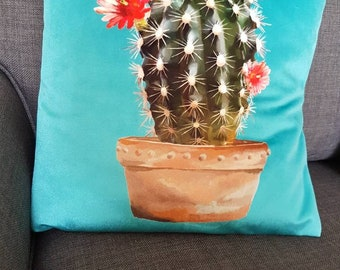 Cactus cushion cover 16""