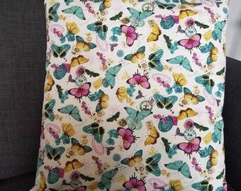 """Cushion cover 16"""" X 16"""" Butterflies"""