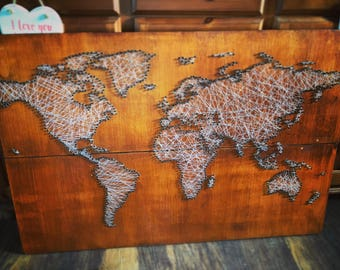 String Art lovingly created using reclaimed materials