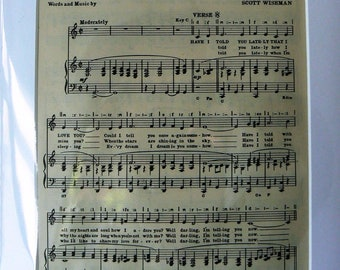 MOUNTED SHEET MUSIC - Have I Told You Lately That I Love You