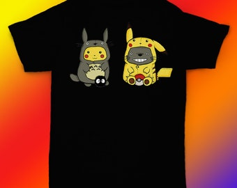 200fe880 Totoro shirt Pikachu t shirt Pokemon tee gift ideas / unisex, womens, mens  shirt / cotton clothing / birthday apparel gift for him her