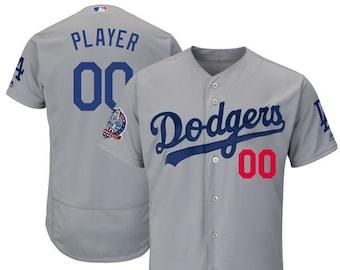 Mens Los Angeles Dodgers Custom Name   number Flex Base Baseball Jersey b77cb40ca