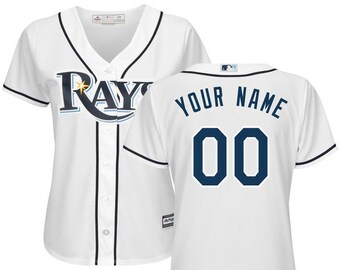 ca458c9ec0d Women Tampa Bay Rays Custom Name   number Cool Base Baseball Jersey