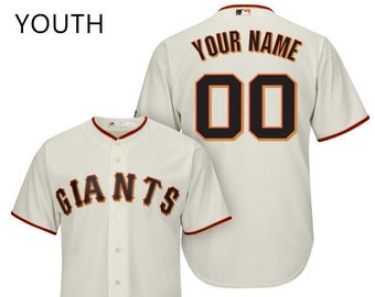 851bf8b1335 Youth San Francisco Giants Custom Name   number Cool Base Baseball Jersey