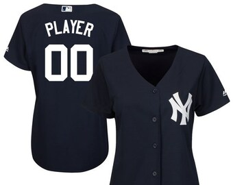 Women New York Yankees Custom Name   number Cool Base Baseball Jersey fd34bca466e