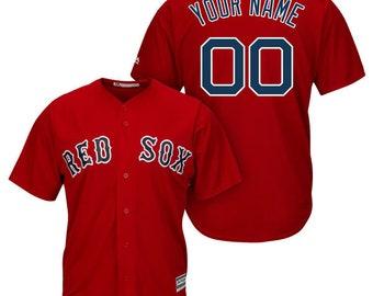 Mens Boston Red Sox Custom Name   number Cool Base Baseball Jersey 5e3c80f2e8a