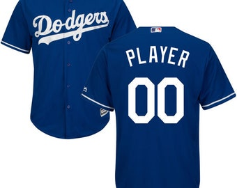 Mens Los Angeles Dodgers Custom Name   number Cool Base Baseball Jersey 810cf5178