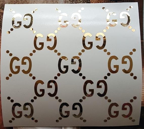 Gucci wallpaper/pattern decal, louis vuitton sticker, trackpad decals,  macbook laptop stickers, ipad stickers