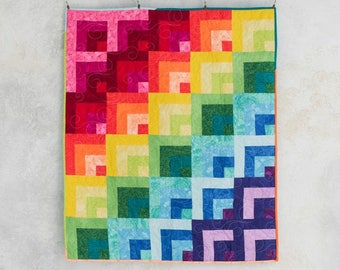 Rainbow Reflections Collage Rainbow Quilt