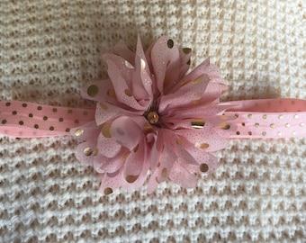 Pink & Gold Baby Headband