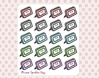 Tablet Computer Planner Stickers Technology Hand Drawn