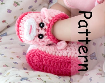 1202e1a9c08 Baby MONKEY BOOTIES PATTERN Baby Girl Crochet Pattern