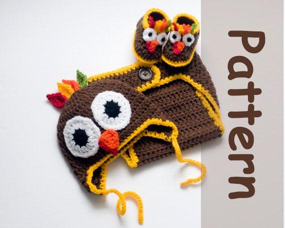 Turkey Hat Diaper Booties Pattern Baby Boy Hat Patterns Crochet