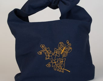 Embroidered canvas bag