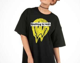 37bfeb2d7 Nothing Is Real Distressed Tee