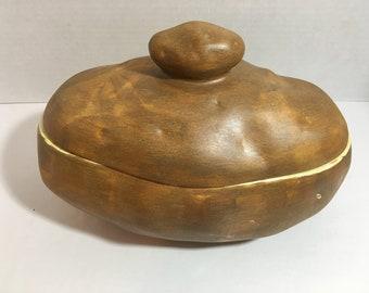"Vintage Ceramic Atlantic Mold potato HELGA 83 9-1/2"" Long X 7-1/2"" H"