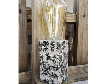 Table lamp custom printed concrete foot fins