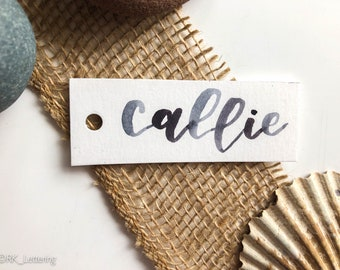 Custom Calligraphy Tags, Hand Lettered Tag, Calligraphy Gift Tags, Calligraphy Name tags