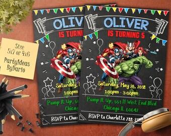 Avengers Birthday Invitation, Avengers Invitation, Avengers Birthday, Avengers Party, Superhero Invitation, Superhero Birthday Invitation