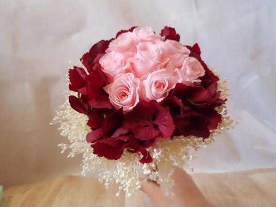 Bouquet De Mariée De Fleur éternel Bouquet Nuptial Original Mariages Bouquets Fleur Séchée De Mariée