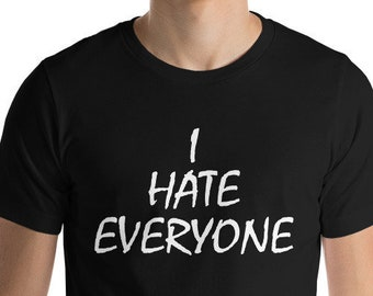 I HATE EVERYONE VEST - Unisex Oversized Tank Top - Made in London / Fast  Delivery