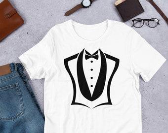 c6553e91 tuxedo shirts for men Tux Shirt awesome Tux Best Man Gift Tux Best Man shirt  funny Retro Tuxedo Costume Fake Tuxedo t shirt Unisex T-Shirt